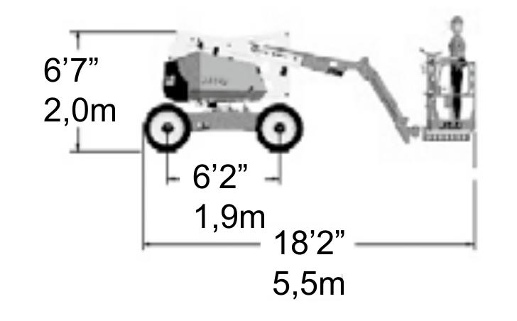 JLG 340AJ Dimensions (1)