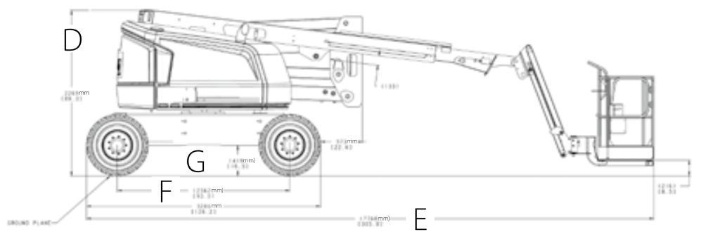 JLG 520AJ Dimensions (1)