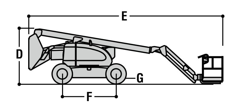 JLG 600AJ Dimensions (1)