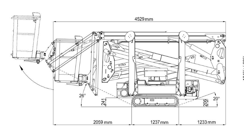 JLG X17J Plus Dimensions (3)