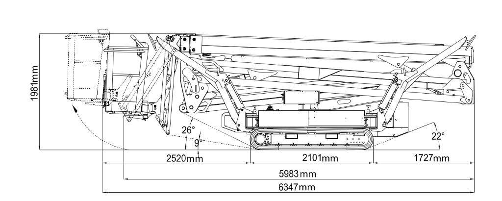 JLG X26J Plus Dimensions (2)