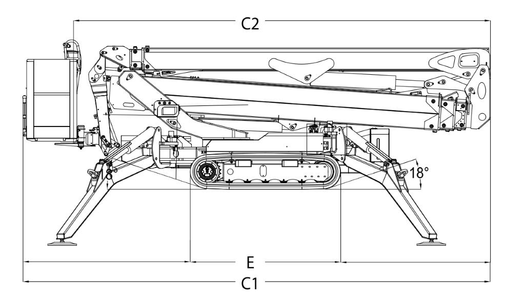 JLG X33J Plus Dimensions (2)