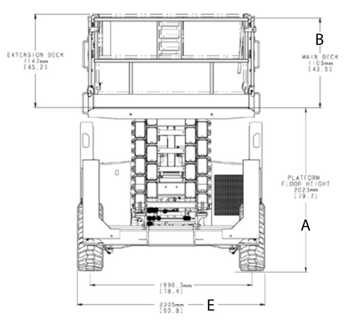 JLG 530LRT Dimensions (1)