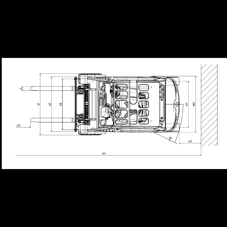 Linde E - Trucks E 20PH - E 16C Series 1275 - Dimension(2)