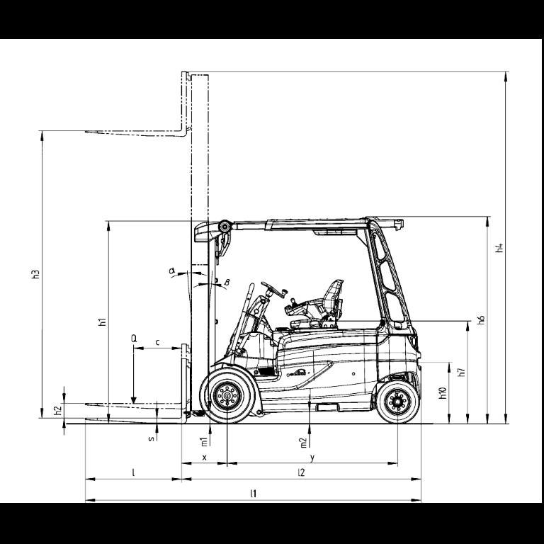 Linde E - Trucks E 35R - E 20R Series 387 - Dimension(1)