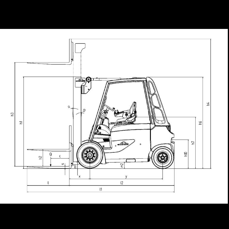 Linde E - Trucks E 50 - E 35 Series 388 - Dimension(1)
