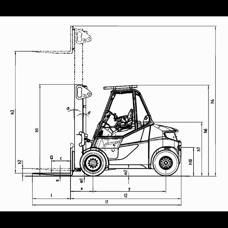 Linde E - Trucks E 80 - E 60 Series 1279 Dimension (1)