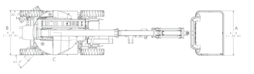 JLG E300AJ Dimensions (1)