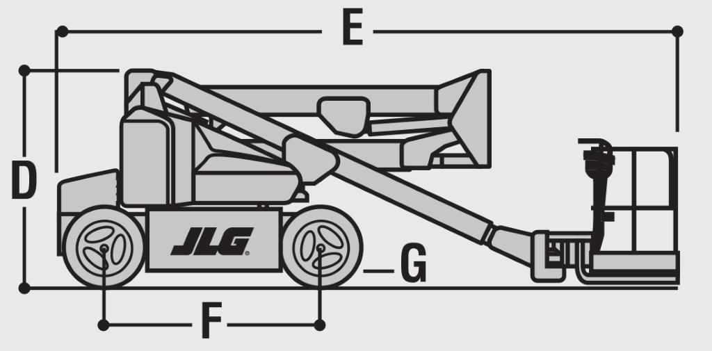 JLG E400AN Dimensions (1)