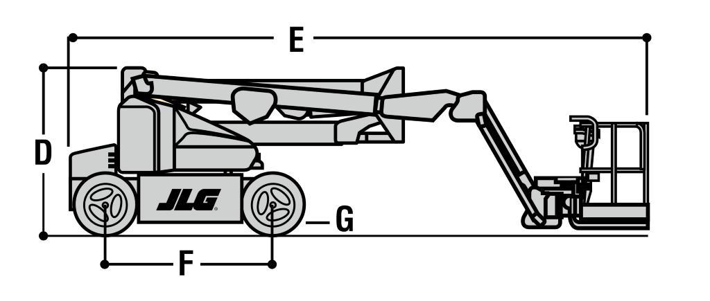 JLG E450AJ Dimensions (1)
