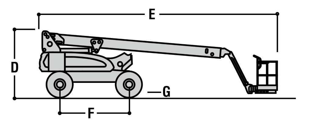 JLG E600J Dimensions (1)