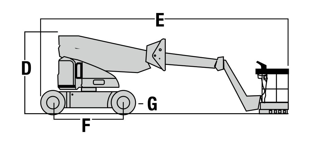 JLG M400AJP Dimensions (1)