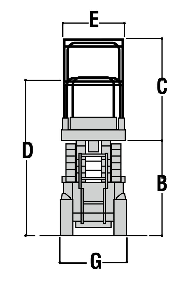 JLG 2032ES Dimensions (1)