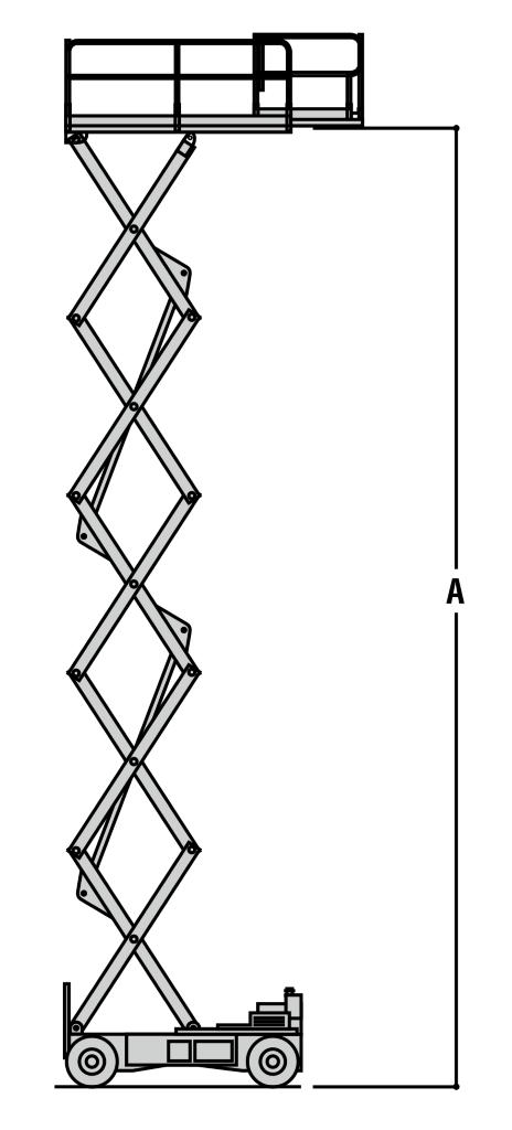 JLG 4069LE Dimensions (3)