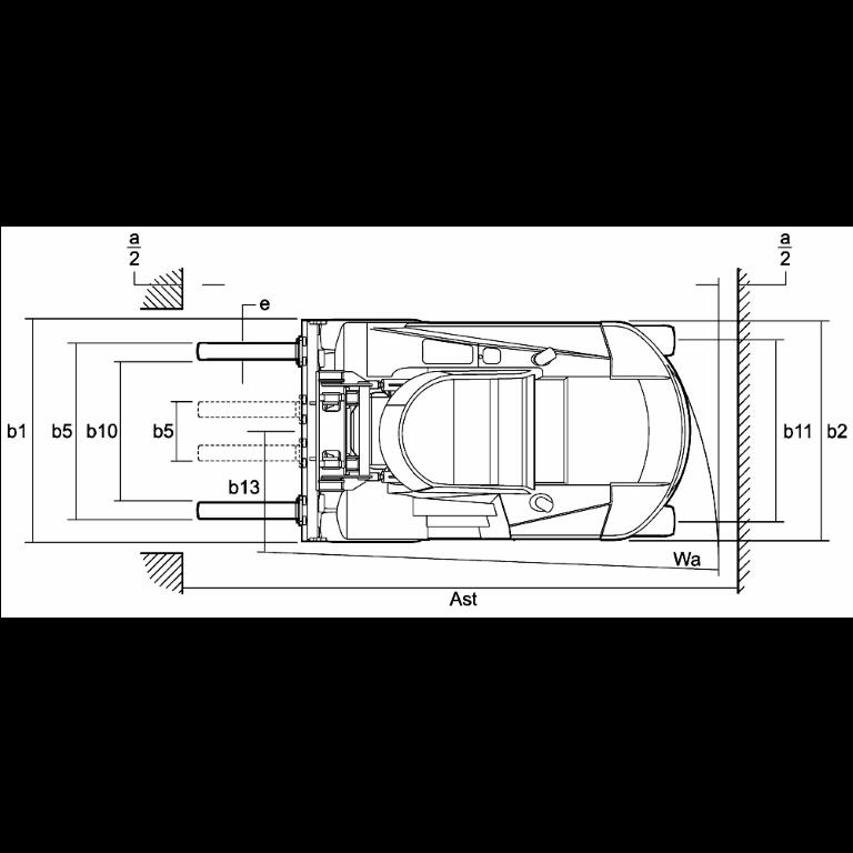 Linde IC - Trucks H 180 - H 100 Series 1401 - Dimensions(1)