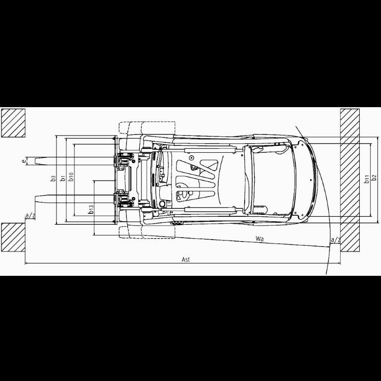 Linde IC - Trucks H 25T - H 20T Series 392_2 - Dimensions(2)