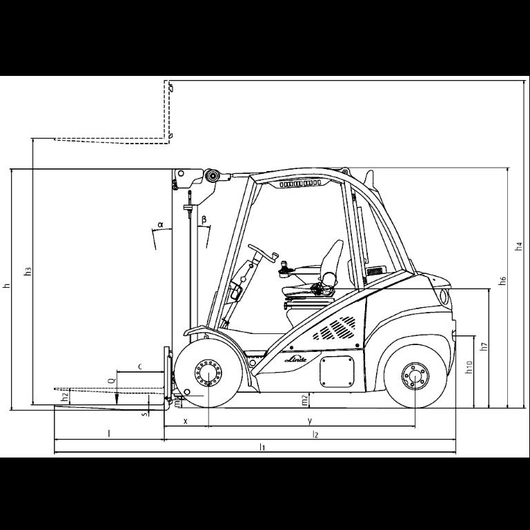 Linde IC - Trucks H 35D - H 25D Series 393_2 - Dimensions(1)