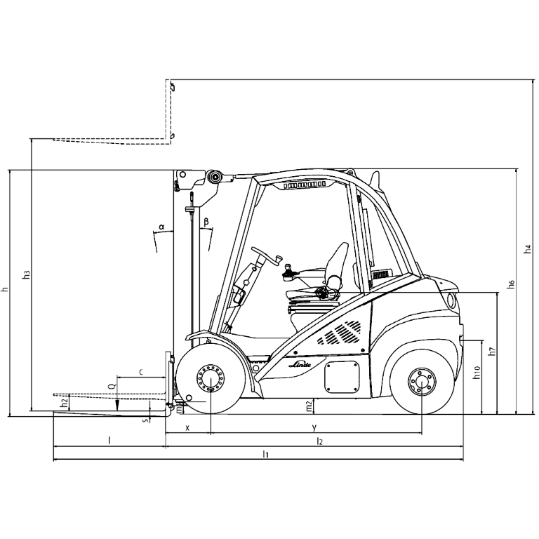Linde IC - Trucks H 35T - H 25T Series 393_2 - Dimensions(1)
