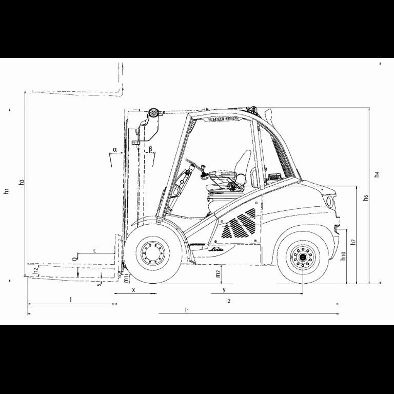 Linde IC - Trucks H 50D - H 40D Series 394_2 - Dimensions(3)