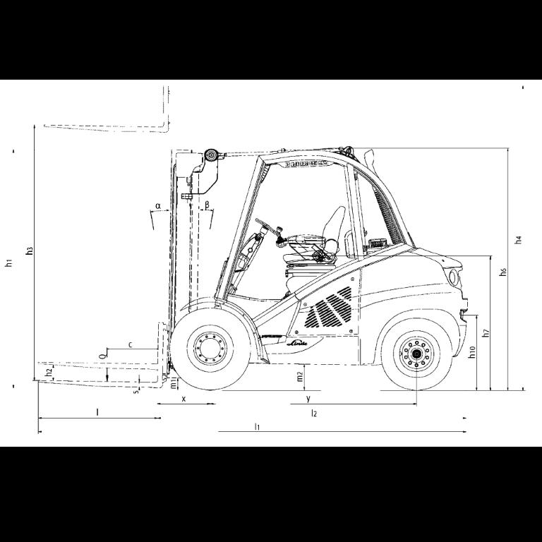 Linde IC - Trucks H 50T - H 40T Series 394_2 - Dimensions(4)