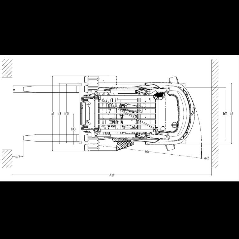 Linde IC - Trucks H 80D - H 50D Series 396-03 - Dimensions (3)