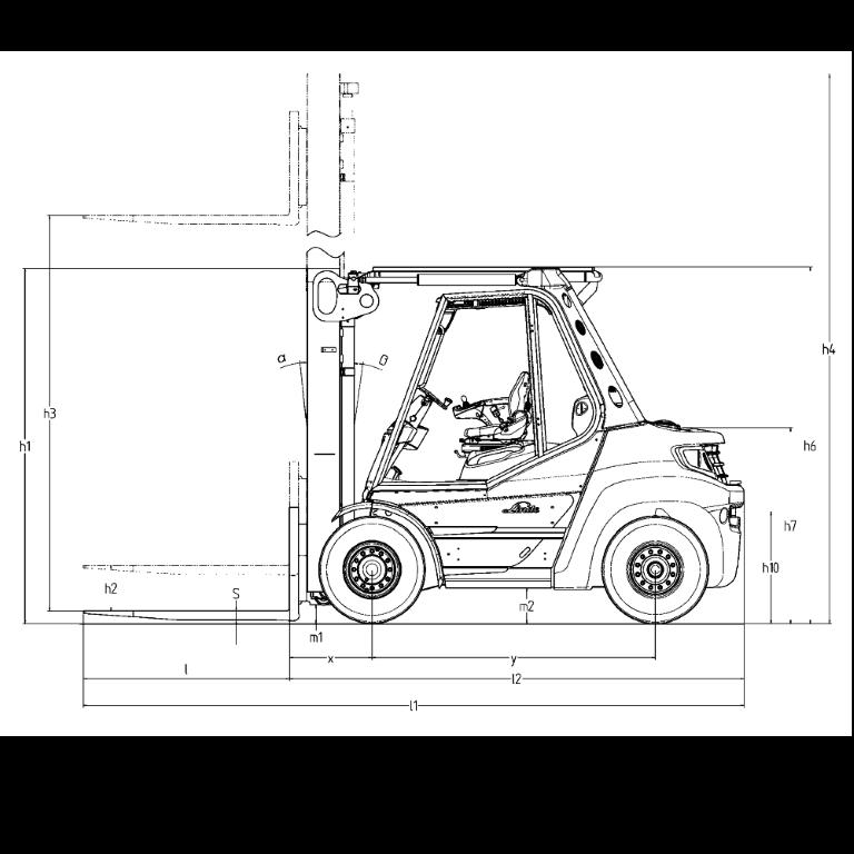 Linde IC - Trucks H 80D - H 50D Series 396-03 - Dimensions (4)
