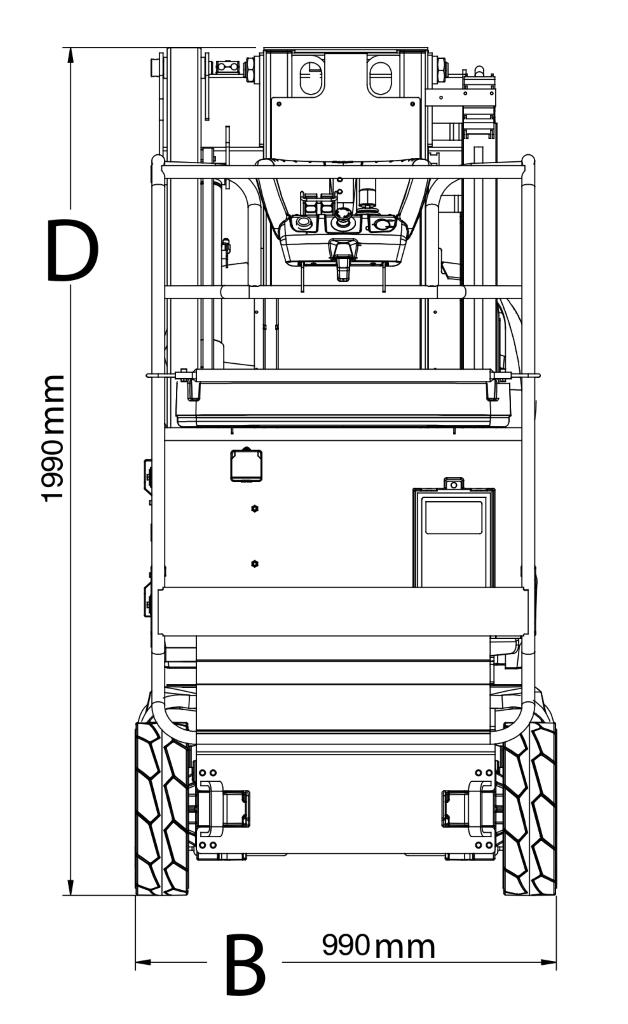 JLG Toucan 8E Dimensions (2)