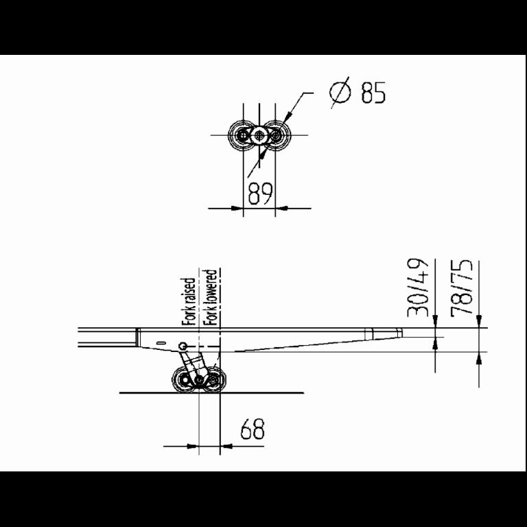 Linde Order Pickers N24HP & N24 - N20HP Series 132 - Dimension (1)