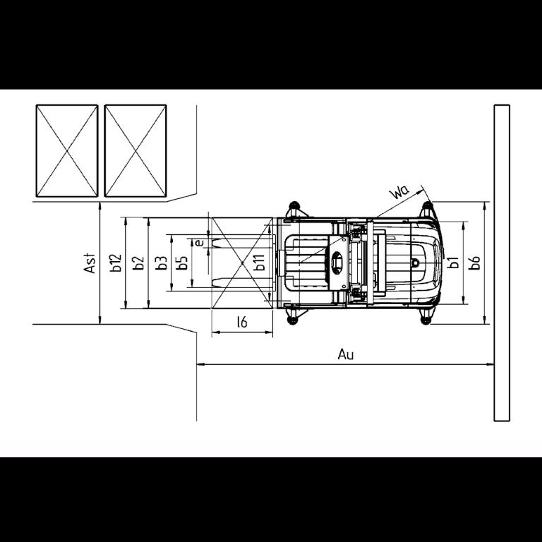 Linde Order Pickers V Series 5213 - Dimension (2)