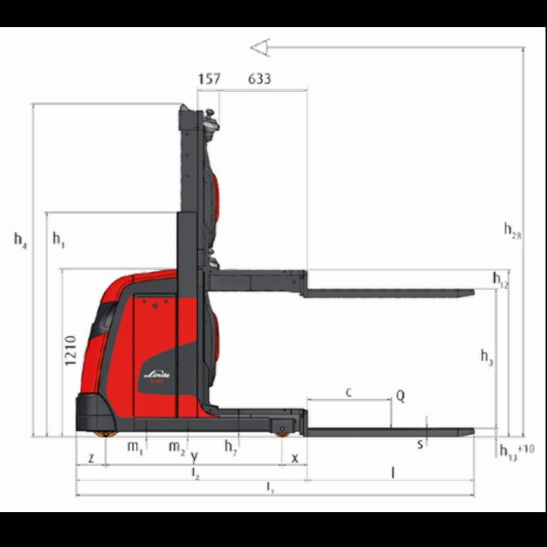 Linde Order Pickers V10 Series 5021 - Dimension (6)