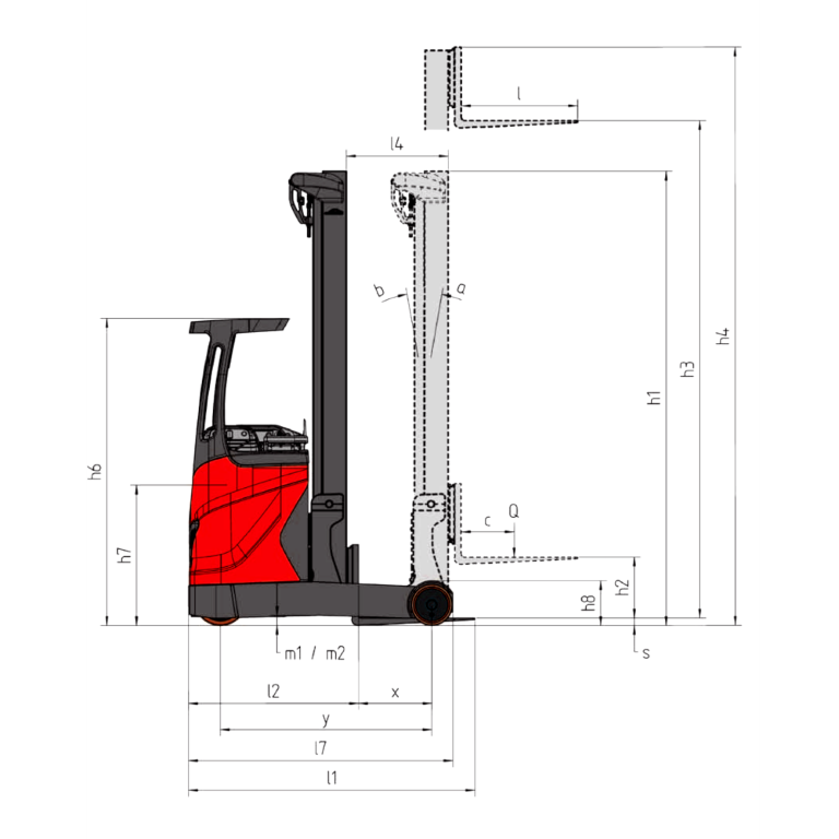 Linde Reach Trucks R16 - R10 B Series 1120 - Dimensions (1)