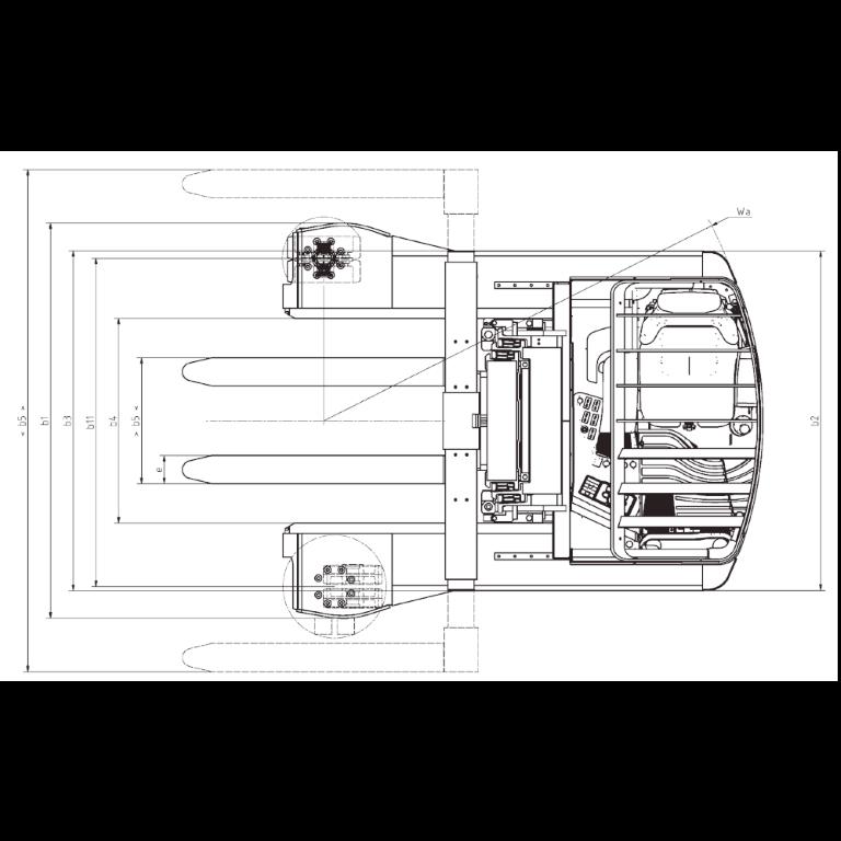 Linde Reach Trucks R25 - R20 F Series 8923 - Dimensions (1)
