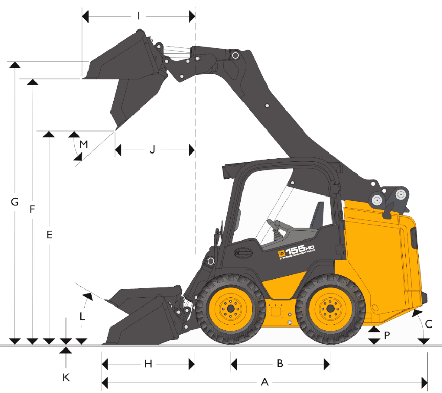 JCB SSL 135 HD - Dimensions (1)