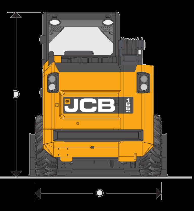 JCB SSL 155 HD - Dimensions (2)