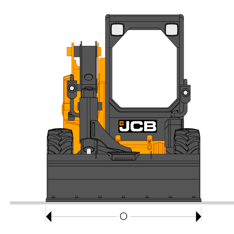 JCB SSL 205 High Flow - Dimensions (3)