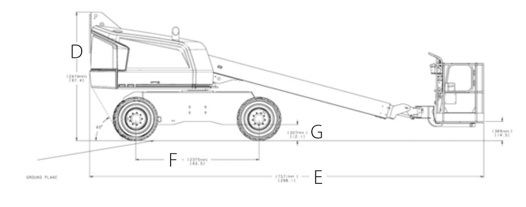 JLG 400S Dimensions (1)