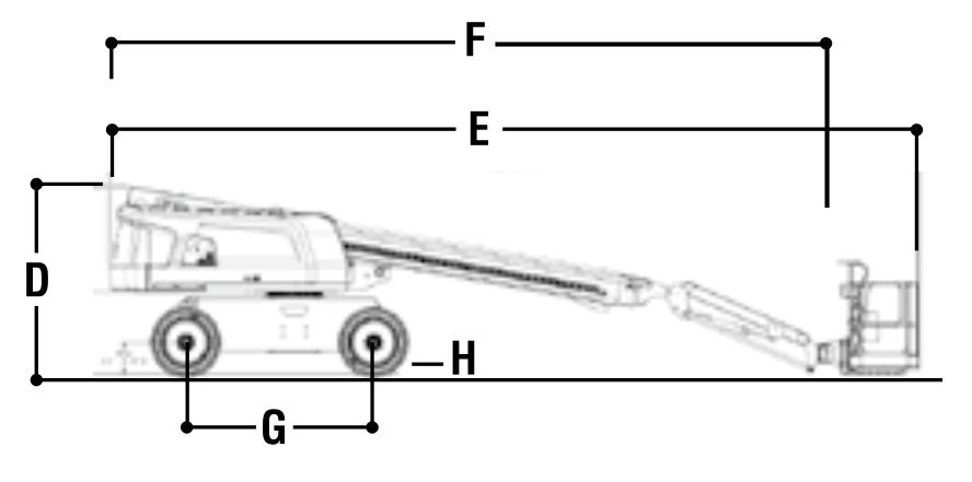 JLG 660SJ Dimensions (1)