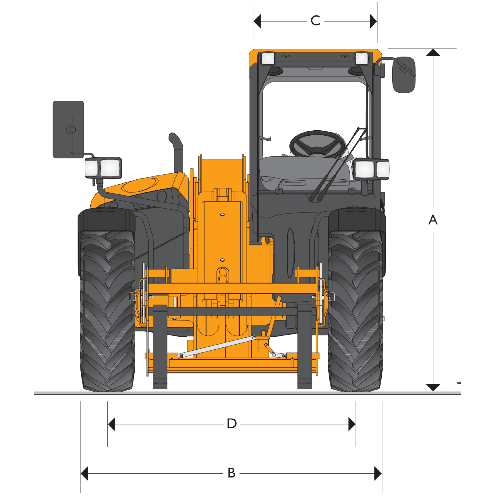 JCB TH 530-110 Dimensions (1)