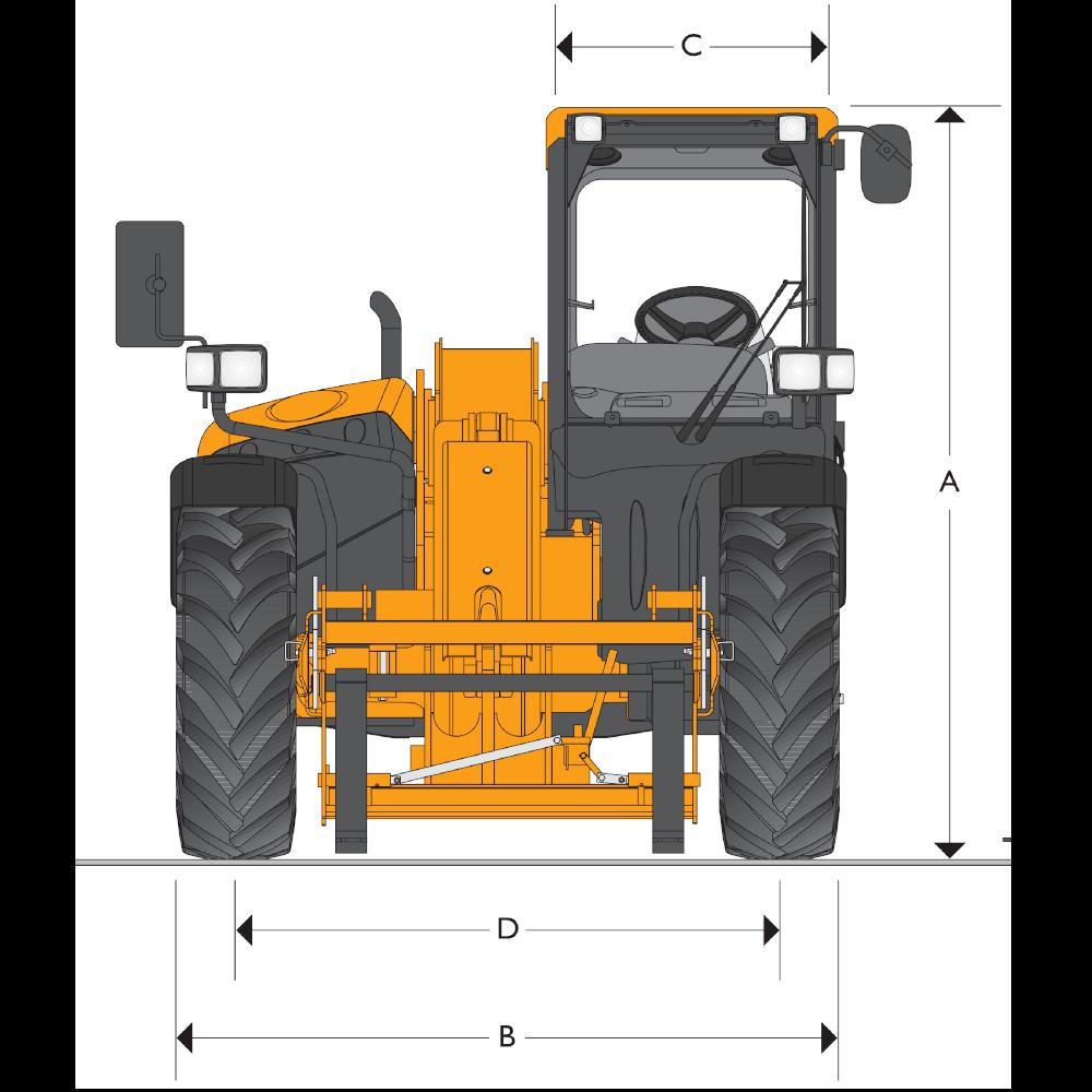 JCB TH 530-70 Dimensions (1)