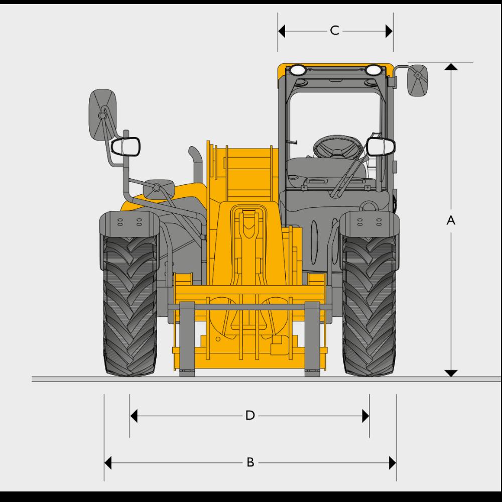 JCB TH 560-80 - Dimensions (1)