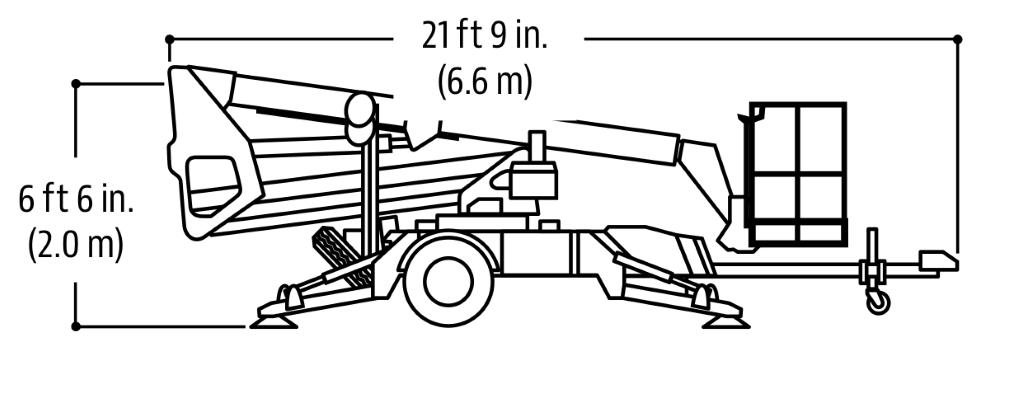 JLG Tow Pro Series T350 Dimensions (1)