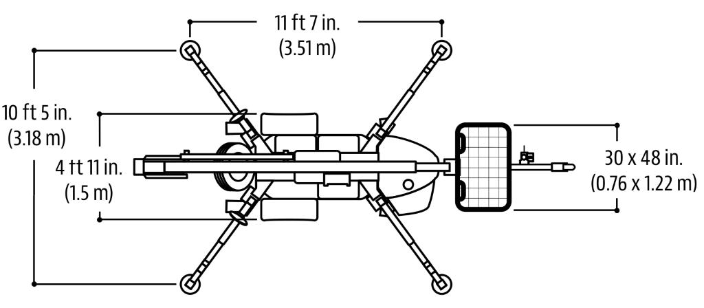 JLG Tow Pro Series T350 Dimensions (2)