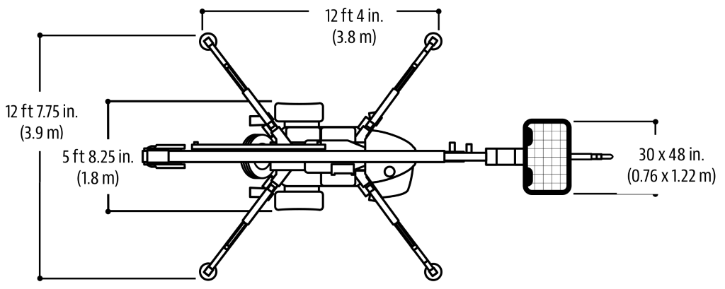 JLG Tow Pro Series T500J Dimensions (2)
